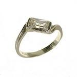 Inel din argint 925 decorat cu zirconiu cubic alb