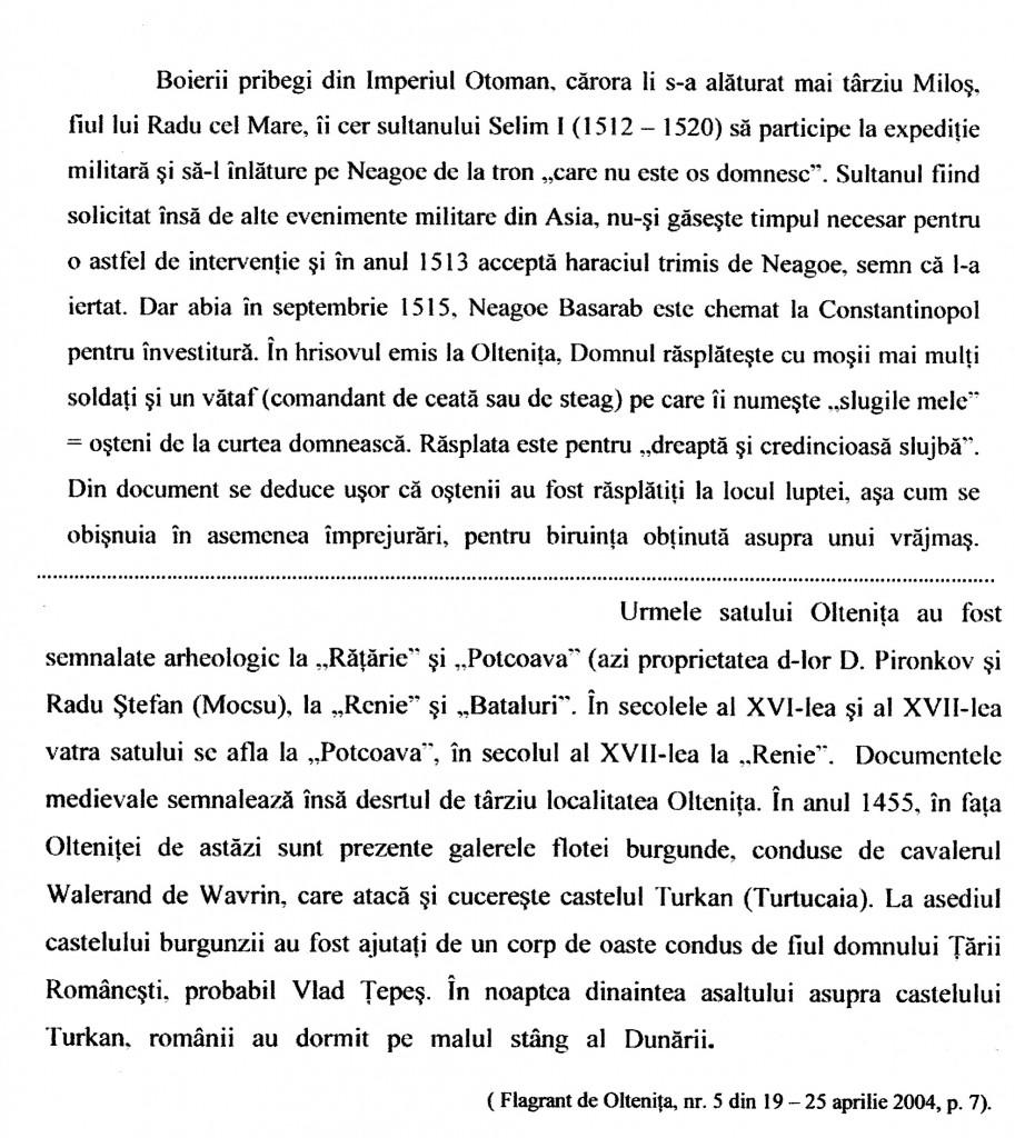Oltenita Articol scris de domnul Done Şerbănescu