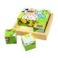 Cuburi Puzzle cubic - animale domestice