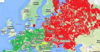 Europa Perspective 2015 Roşu scadere, Verde Creştere, galben şi verde crestere in afara zonei Euro