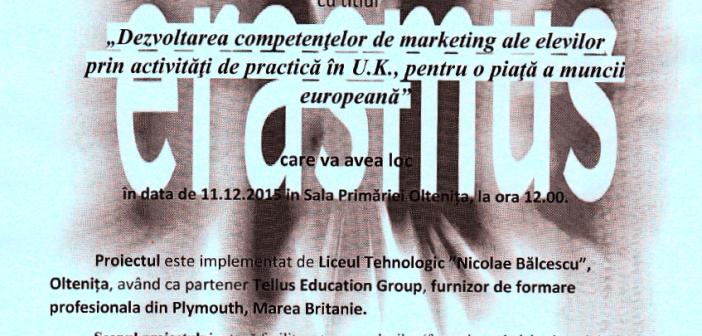 Conferinta proiectului Erasmus la Oltenița