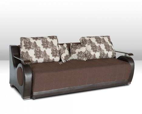 Canapea extensibila Orient, lada depozitare, stofa maro, 225X100X90 cm