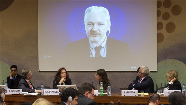 Julian Assange, fondatorul WikiLeaks azil prelungit! Imagine de la Ședința ONU. sursa foto kashmirreader.com