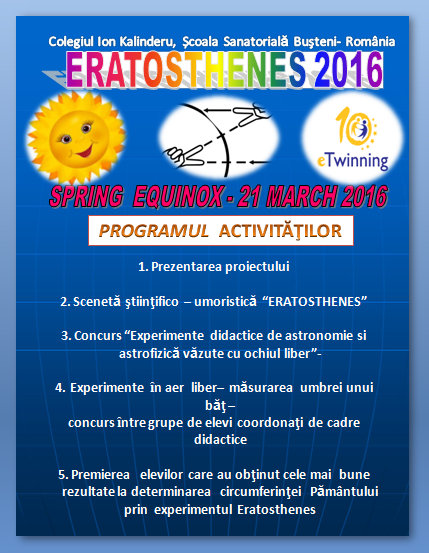 Programul activitatilor
