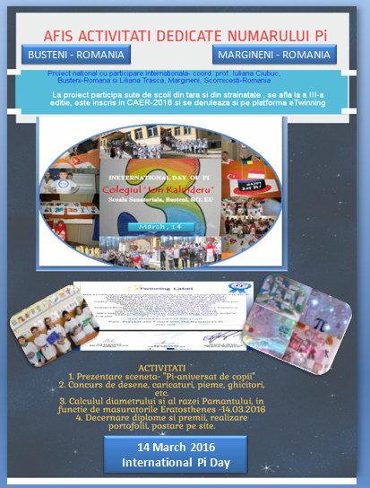 14 Martie -Ziua Internaţională a numărului PI - Ziarul lui Ipu