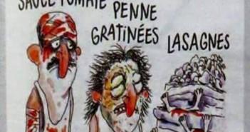 "Charlie Hebdo ""Cutremur în stil italia"""