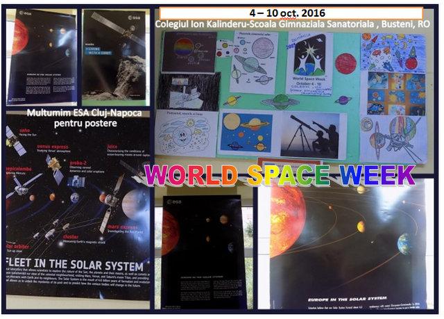 Activitati dedicate Săptămânii Spaţiului Cosmic