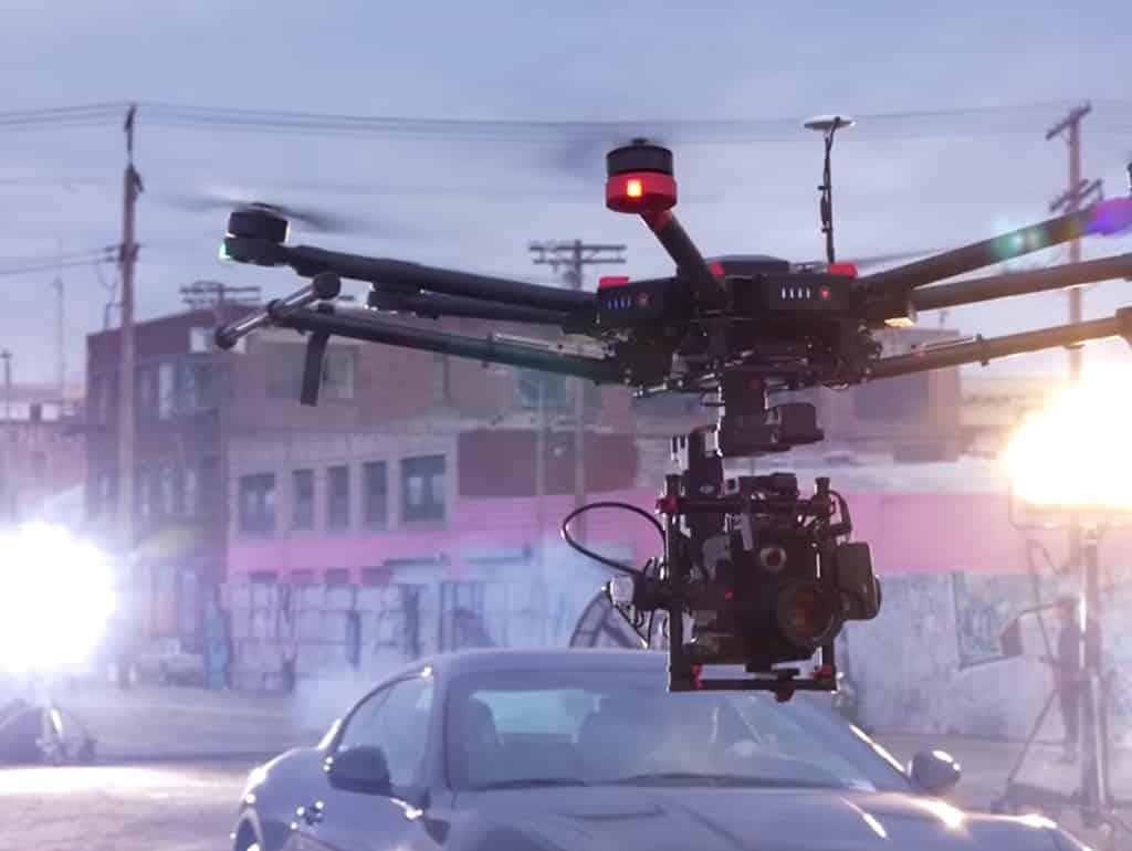 Drona utilizată în publicitate