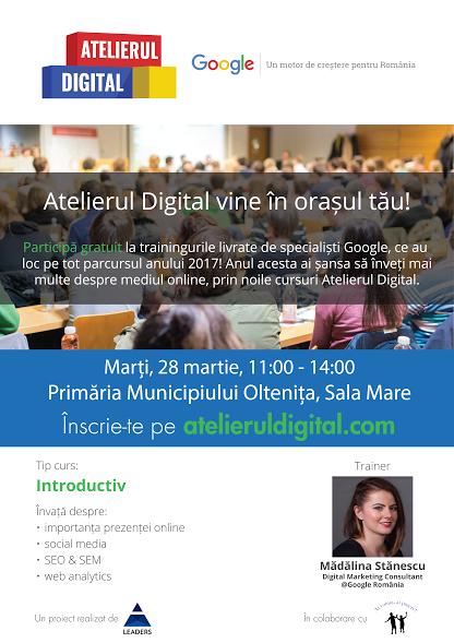 Atelierul Digital Google – Introductiv