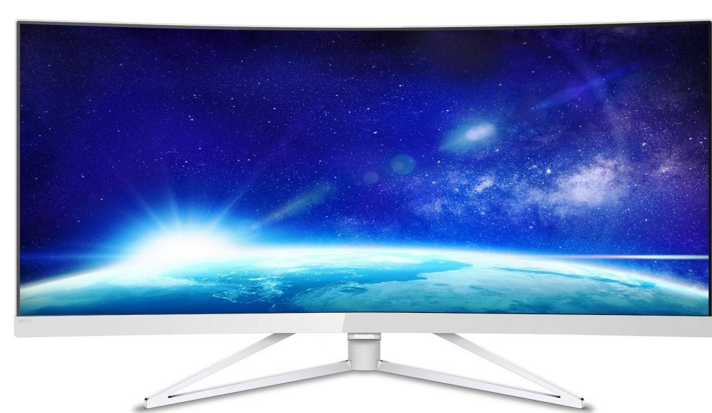 Design de top și vedere panoramică: un nou monitor curbat Philips de 34 de inci