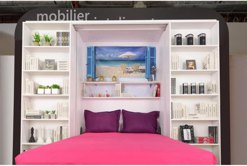 Cu mobilier inteligent, ai sufragerie, dormitor si birou intr-o camera