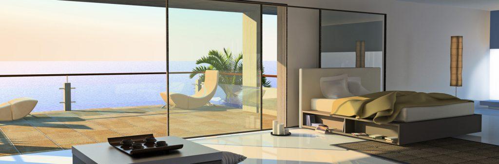 Sticla este materialul cu ajutorul caruia puteti personaliza orice spatiu, la interior si exterior